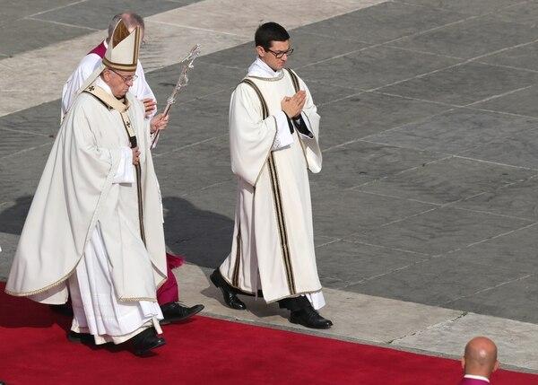 El papa Francisco durante la ceremonia. REUTERS/Alessandro Bianchi