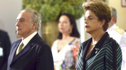 Michel Temer y Dilma Rousseff, una alianza que terminó muy mal