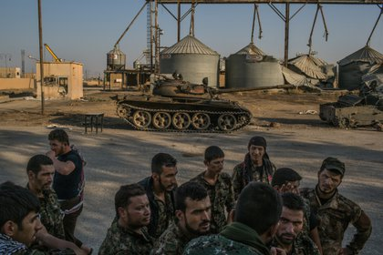 Militantes kurdos en Tel Tamer (Archivo, Mauricio Lima/The New York Times)