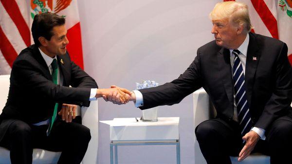 """Donald Trump, tras reunirse con Enrique Peña Nieto en el G-20: """"México debe pagar por el muro"""""""