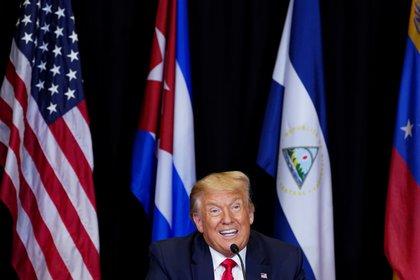Trump durante la mesa redonda sobre Venezueal (REUTERS/Kevin Lamarque)
