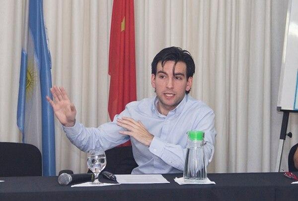 Guillermo Santa Cruz, en la Cámara Argentino China