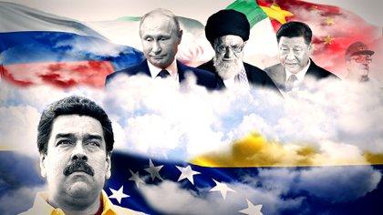 Vladimir Putin, Ayatollah Khamenei, Xi Jinping y Raúl Castro. Todos apuntan con quedarse con alguna porción de una desmembrada Venezuela gracias a la desesperación de Nicolás Maduro