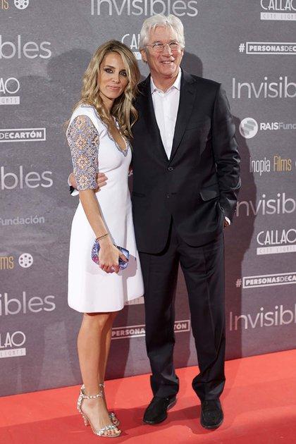 Richard Gere se casó en secreto con la empresaria Española, Alejandra Silva (AP Photo/Abraham Caro Marin)