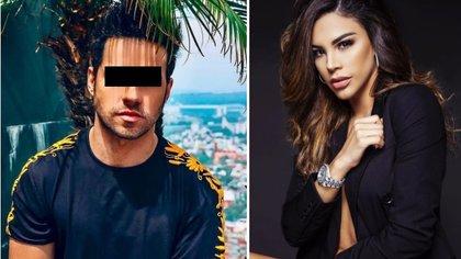 """Eleazar """"N"""" habría agredido a Tefi Valenzuela (derecha) en la noche del 4 de noviembre. Los vecinos habrían alertado a la policía al escuchar los gritos (Foto: Instagram de Eleazar Gómez y Tefi Valenzuela)"""