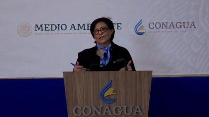 Blanca Jiménez, titular de la CONAGUA, informó que la sequía generalizada que se vive en México se debe a la falta de agua pluvial y a la alta demanda de recursos hídricos durante la pandemia por la COVID-19 (Foto: Captura de pantalla Facebook/ @conaguamx)