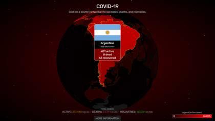 Mapa interactivo Argentina (covidvisualizer)