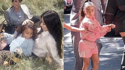 Wanda se inspirró en el look de la hija de Kim y se encargó de replicarlo en su hija Francesca.