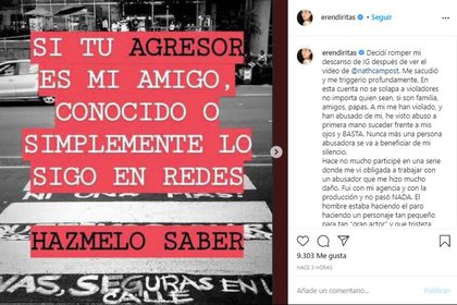 Eréndira Ibarra rompe el silencio, fue víctima de agresión sexual
