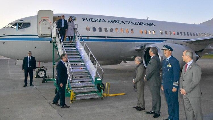 La llegada de Duque a la Argentina