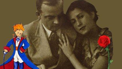 Saint Exupéry y Consuelo Suncín