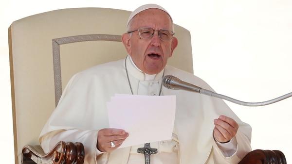 El papa Francisco en la audiencia del miércoles en Plaza San Pedro (Reuters)