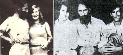 Junto a su segunda mujer, María Elena Bravo, y los hijos de su primer matrimonio