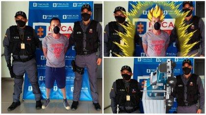 """""""La captura es real"""": Fiscalía publica un video tras la polémica generada por el fotomontaje de un detenido"""