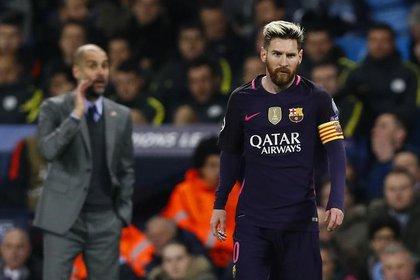 El destino de Messi parecería ser el Manchester City, en donde está su ex entrenador Pep Guardiola (Reuters)