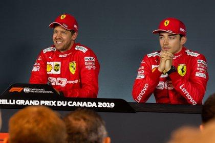 Leclerc llegó para competir con Vettel