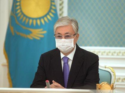 El presidente Kasajko, Kassym-Jomart Tokayev Kazakh Presidential Press Service/Handout via REUTERS ATTENTION EDITORS - THIS IMAGE WAS PROVIDED BY A THIRD PARTY.