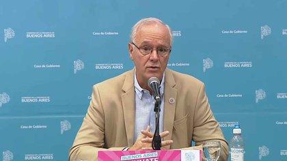 El ministro de Salud de la provincia de Buenos Aires, Daniel Gollán