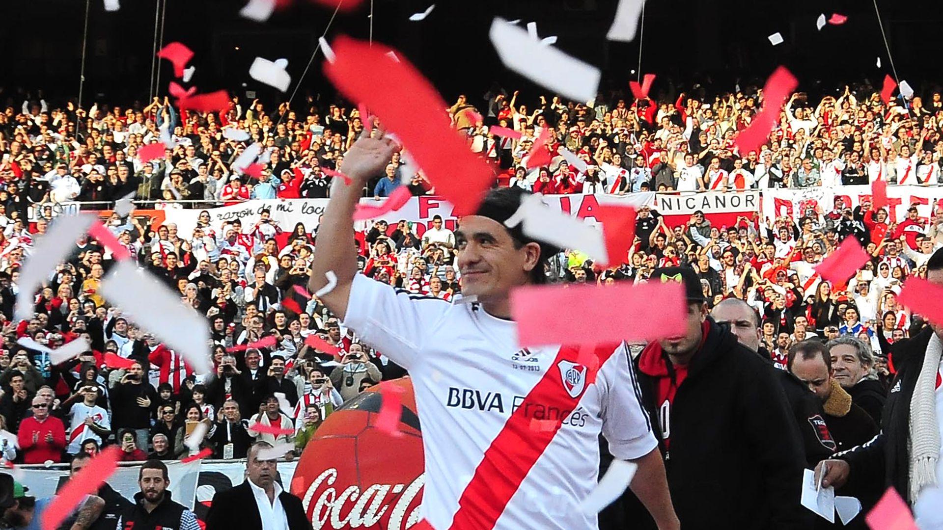Ariel Ortega, el día de su despedida de River (Foto Baires)