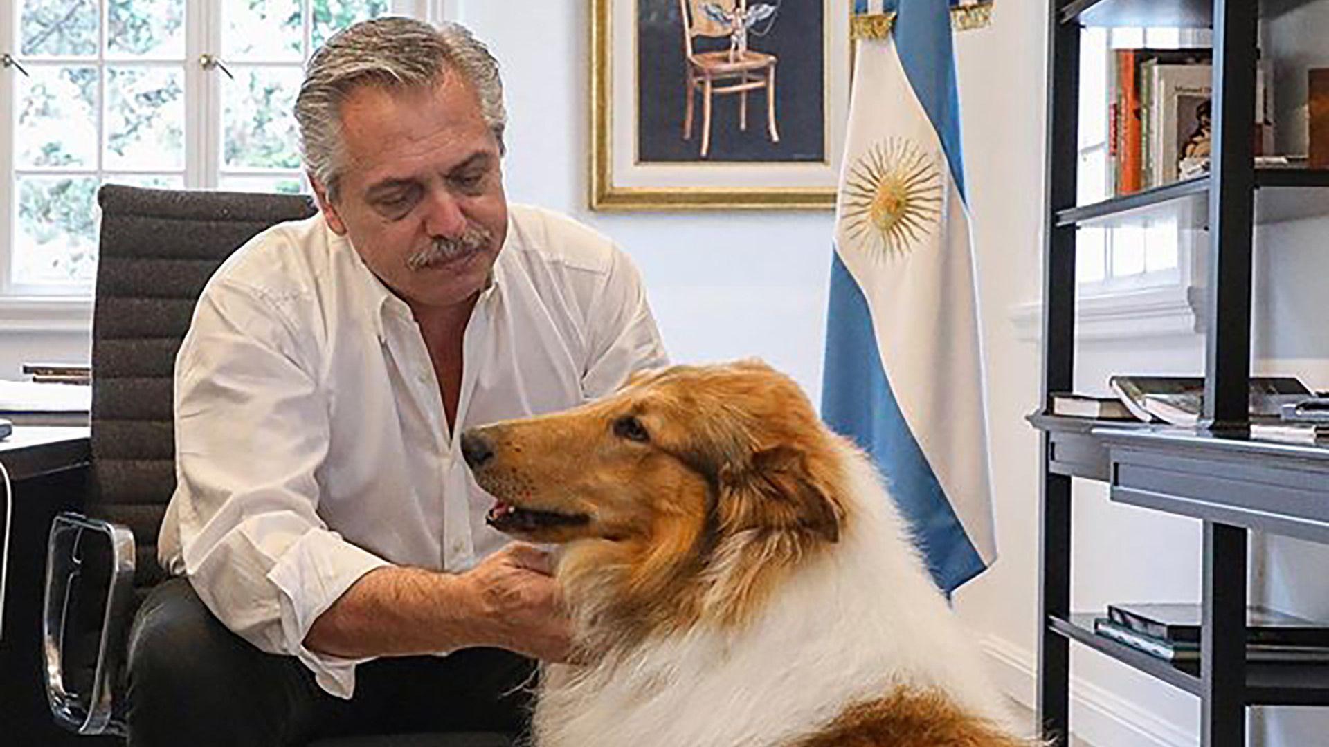 Alberto Fernández ayer hizo 'home office' en la residencia de Olivos