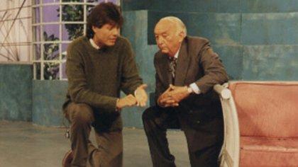 Con Marcelo Tinelli