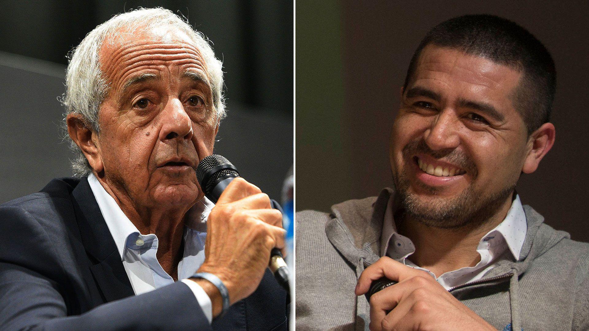 Rodolfo Donofrio felicitó a Juan Roman Riquelme por el triunfo en las elecciones de Boca