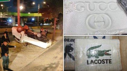 Aproximadamente 557 kilos de cocaína fueron encontrados en una camioneta que se volcó en la alcaldía Miguel Hidalgo (Foto: Especial)