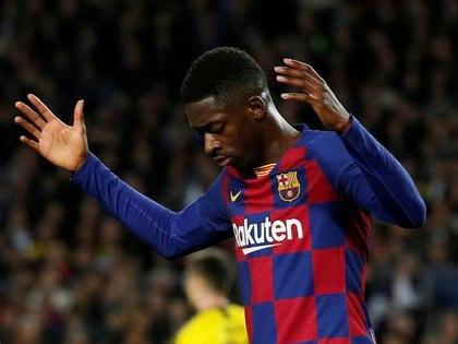 Dembélé sufrió una lesión muscular en el bíceps femoral derecho en a fines de febrero (Foto: Reuters)