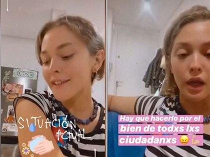 La actriz compartió su estado en las redes sociales