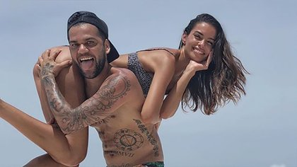Dani Alves y Joana Sanz comenzaron su relación sentimental en 2016 (Instagram)