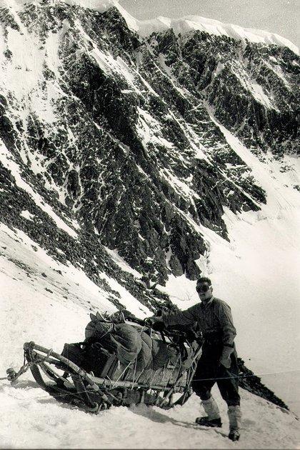Gustavo Giró, durante sus días en el Polo Sur (Foto: Fundación Marambio)