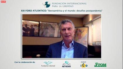 Mauricio Macri habla en el Foro de la Fundacion Internacional para la Libertad