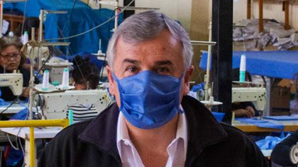 La imagen que utilizó el gobernador Gerardo Morales en su cuenta de Twitter para comunicar la nueva medida