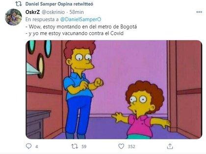 Mock tweet in Medellín