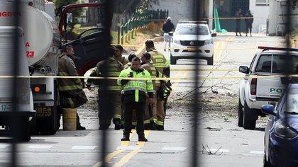 El atentado a la Escuela de Cadetes de la Policía General Santander se di hacia las 9:30 de lamañana del jueves 17 de enero. (EFE)