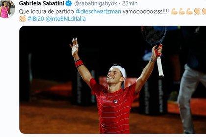 Gabi Sabatini también se rindió a los pies de Peque