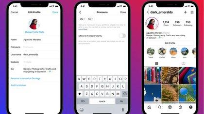 Instagram ahora permite añadir pronombres en el perfil