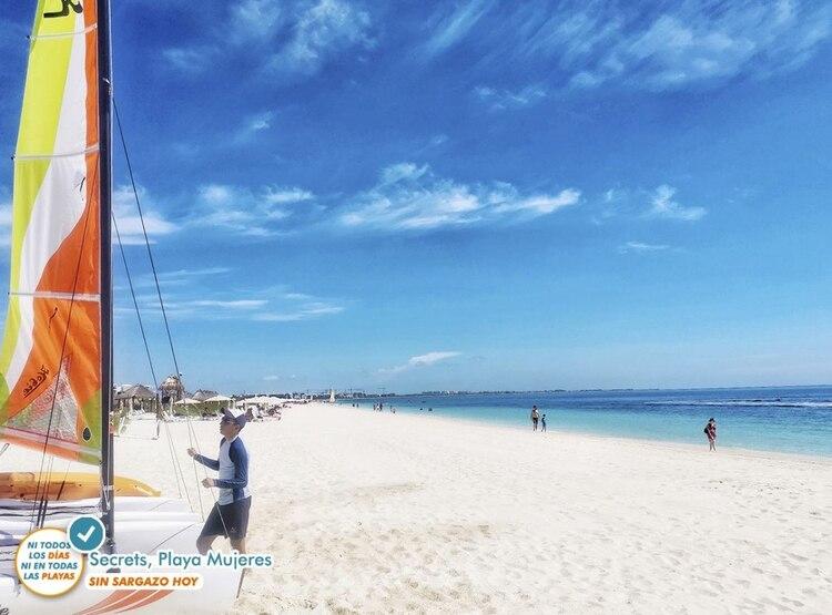 El sargazo se ha alejado de las costas ante la presencia de las Ondas Tropicales número 21 y 22. (Foto: Secretaría de Turismo de Quintana Roo)