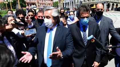 Alberto Fernández volvió a hablar del posible pago del cuarto IFE (Maximiliano Luna)