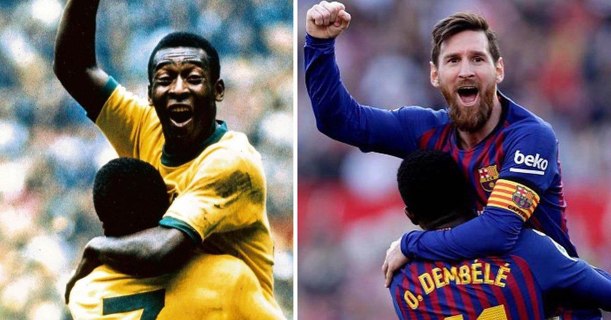 """Pelé le mandó un mensaje a Messi, quien igualó su récord histórico: """"Nuestras historias serán cada vez más raras"""" - Infobae"""