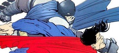 Batman se enfrenta a Superman en El Regreso del Caballero de la Noche