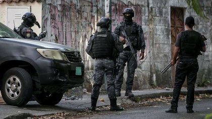 Agentes venezolanos (EFE/Miguel Gutiérrez/Archivo)