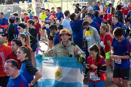 Sebastián Karpencopfcorrióla media maratón en casi dos horas (Franco Fafasuli)