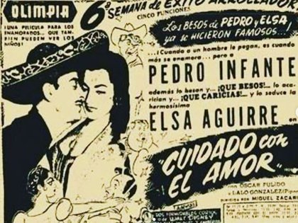 Elsa Aguirre y Pedro Infante protagonizaron Cuidado con el Amor (Foto: Instagram/@elsa.aguirre.official)
