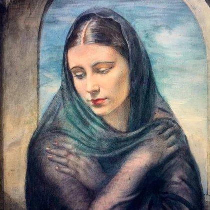"""""""La Enlutada"""", el cuadro que posteó Florencia Kirchner en su nueva cuenta de Instragram"""