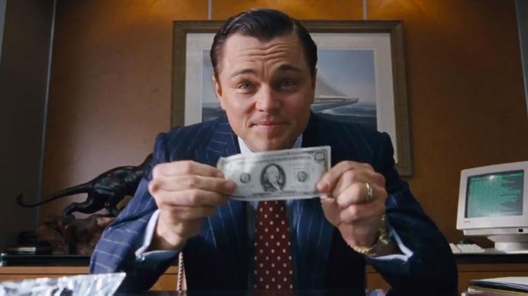 """Leonardo DiCaprio en lapelícula """"El Lobo de Wall Street"""" de Martin Scorsese"""