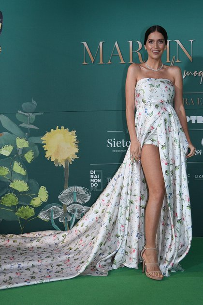 Zaira Nara fue otra de las celebrities que deslumbró en la 'green carpet'.