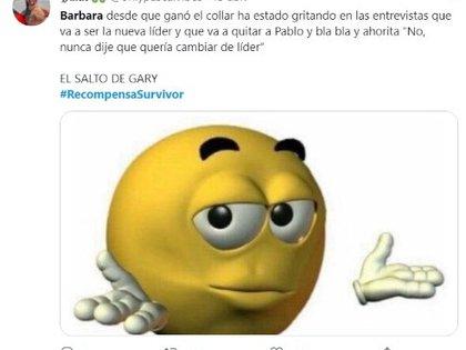 """La contendiente fue criticada por usuarios de Twitter por sus comentarios contra Pablo Martí, líder de la tribu """"Jaguares"""" (Foto: Twitter @onlypascalvibes)"""