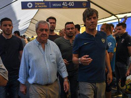 Jorge Amor Ameal y Mario Pergolini, nuevo presidente y vicepresidente de Boca (Foto: Télam)