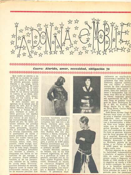 Sara Gallardo también escribía la página de moda de Confirmado